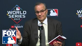Joe Torre explains controversial Trea Turner interference call | FULL PRESS CONFERENCE | FOX MLB