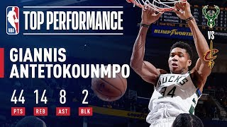Giannis Antetokounmpo Puts Up 44/14/8 In Bucks' Win Over Cavs | December 14, 2018