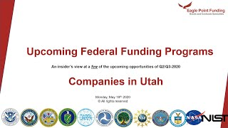 Federal Funding for Utah Based Companies