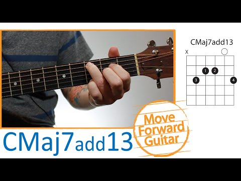 Guitar Chords for Beginners - CMaj7add13