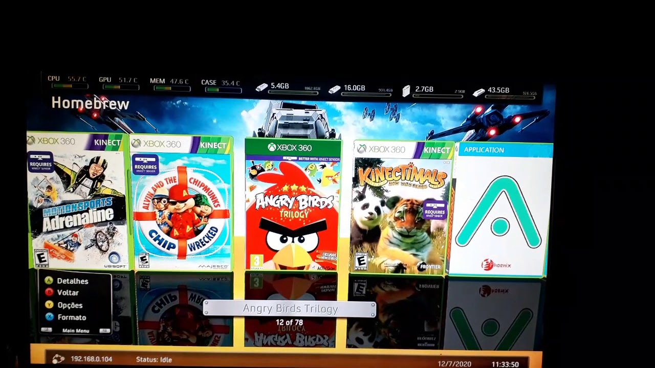 Xbox 360 RGH jogos do Kinect - YouTube