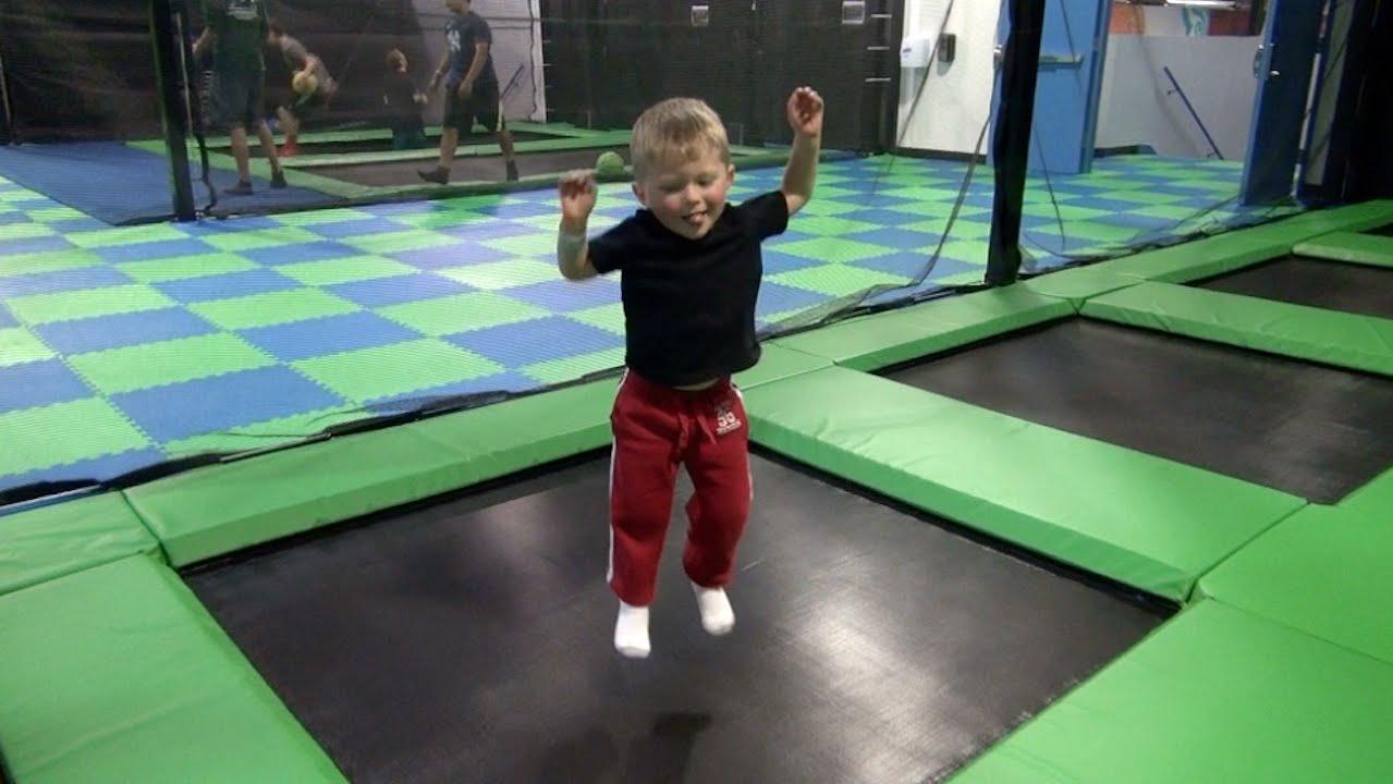 toddler loves trampoline park youtube. Black Bedroom Furniture Sets. Home Design Ideas