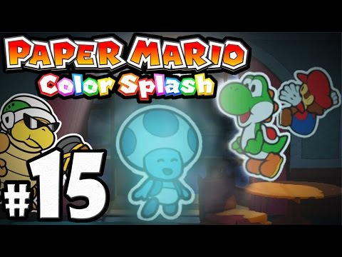 Paper Mario Color Splash - Wii U Gameplay Walkthrough PART 15 - Dark Bloo Inn: Ghost Hunt Hotel