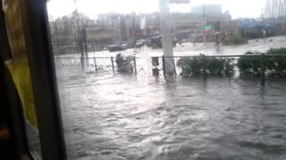 Наводнение на проспекте Просвещения 17.07.2015.