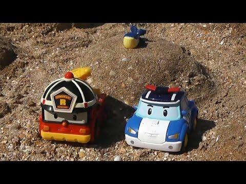 Игры с машинками. Клоун Дима и машинки из сериала Робокар Поли. Видео для мальчиков