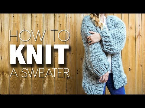 HOW TO KNIT A SWEATER | WE ARE KNITTERS | SIMONE CARDIGAN