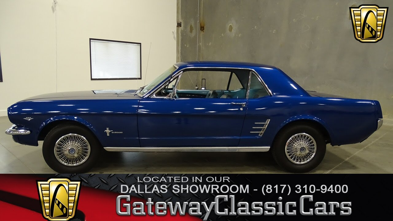 1966 ford mustang stock 187 gateway classic cars of dallas youtube