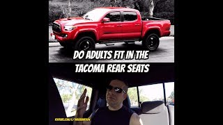 Do Adults Fit In The Tacoma'S Back Seat?