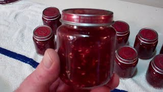 Raspberry Rhubarb Jam! Canned In Baby Food Jars! Want To Know How? Watch This!