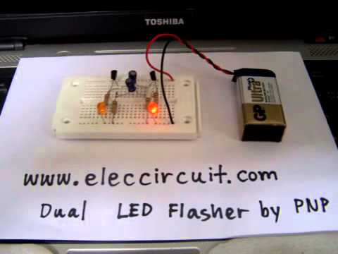 Sensor Switch Wiring Diagram Dual Led Flasher Circuit Using 2n2907 Pnp Transistor Youtube