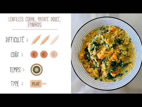 recette-facile-:-lentilles-corail,-patate-douce,-épinards-!