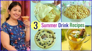3 Restaurant Style SUMMER DRINKS at HOME | CookWithNisha