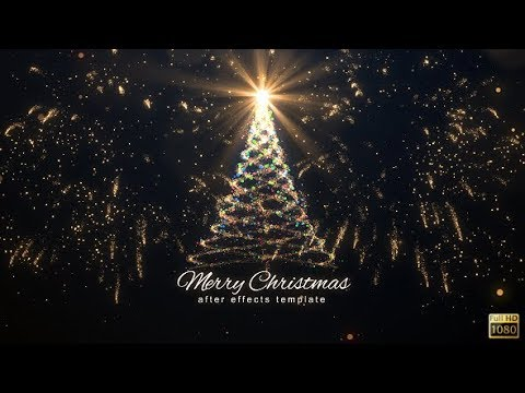 christmas lights after effects template free