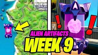 All Week 9 ALIEN ARTIFACTS Locations (ALL 5 Alien Artifact Locations)