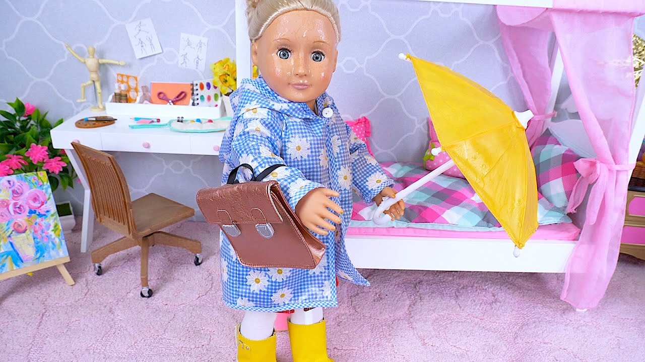 OG doll evening routine after school and rain