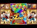 One Piece Thousand Storm 2nd Anniversary/Jubiläum Ruffy/Luffy New EX Ultimate Banner/Event JP 1000RC