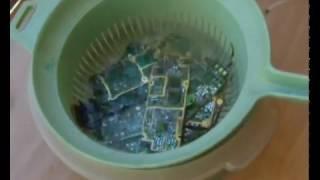Como extraer ORO de teléfonos móviles rotos. Parte 2.