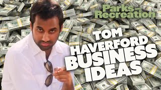 Tom Haverford's BUSINESS IDEAS | Parks and Recreation | Comedy Bites