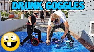 MINI BMX OBSTACLE COURSE WITH DRUNK GOGGLES (FT. THE DUDESONS)