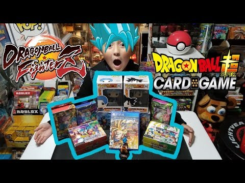 DRAGONBALL FIGHTER Z LAUNCH PARTY! DRAGONBALL SUPER CARD GAME HAUL & OPENING! OUR FIRST DB VIDEO!!