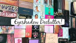ANOTHER EYESHADOW PALETTE DECLUTTER! Big Palettes gotta go!