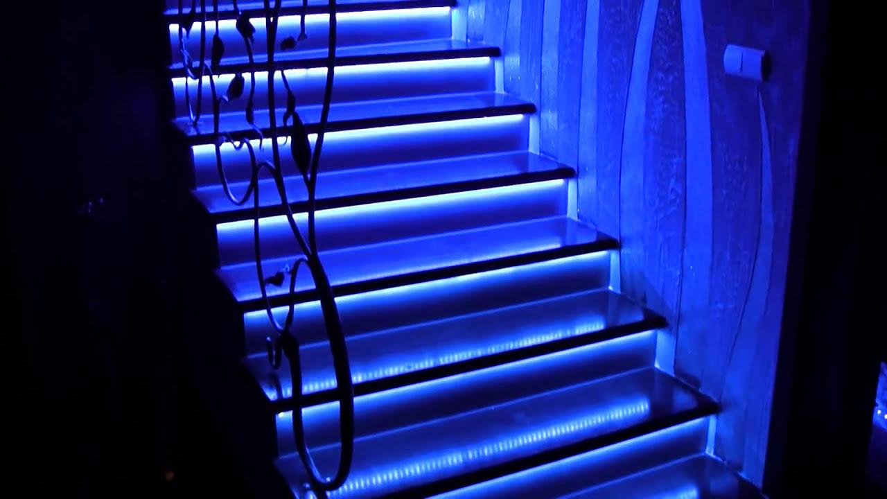 Oświetlenie Schodowe Podświetlenie Schodów Taśmami Led Ledy W
