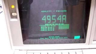 HP 4954A selftest