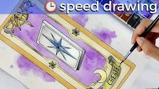 Speed Drawing Clow Card THE CREATE from Card Captor Sakura