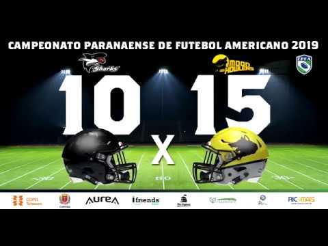 CAMPEONATO PARANAENSE 2019 - WILD CARD - FOZ DO IGUAÇU BLACK SHARKS 10 x 15 MOON HOWLERS