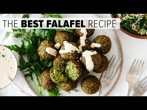 THE BEST FALAFEL RECIPE | crispy fried and baked falafel (vegan)