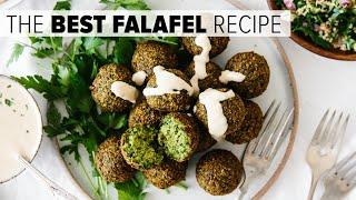 THE BEST FALAFEL RECIPE | crispy fried and baked falafel (ve...