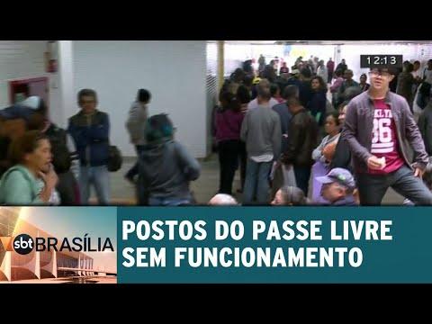 Postos do passe livre estão sem funcionamento   SBT Brasília 29/05/2018