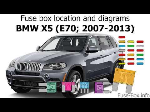Fuse box location and diagrams: BMW X5 (E70; 2007-2013) - YouTubeYouTube