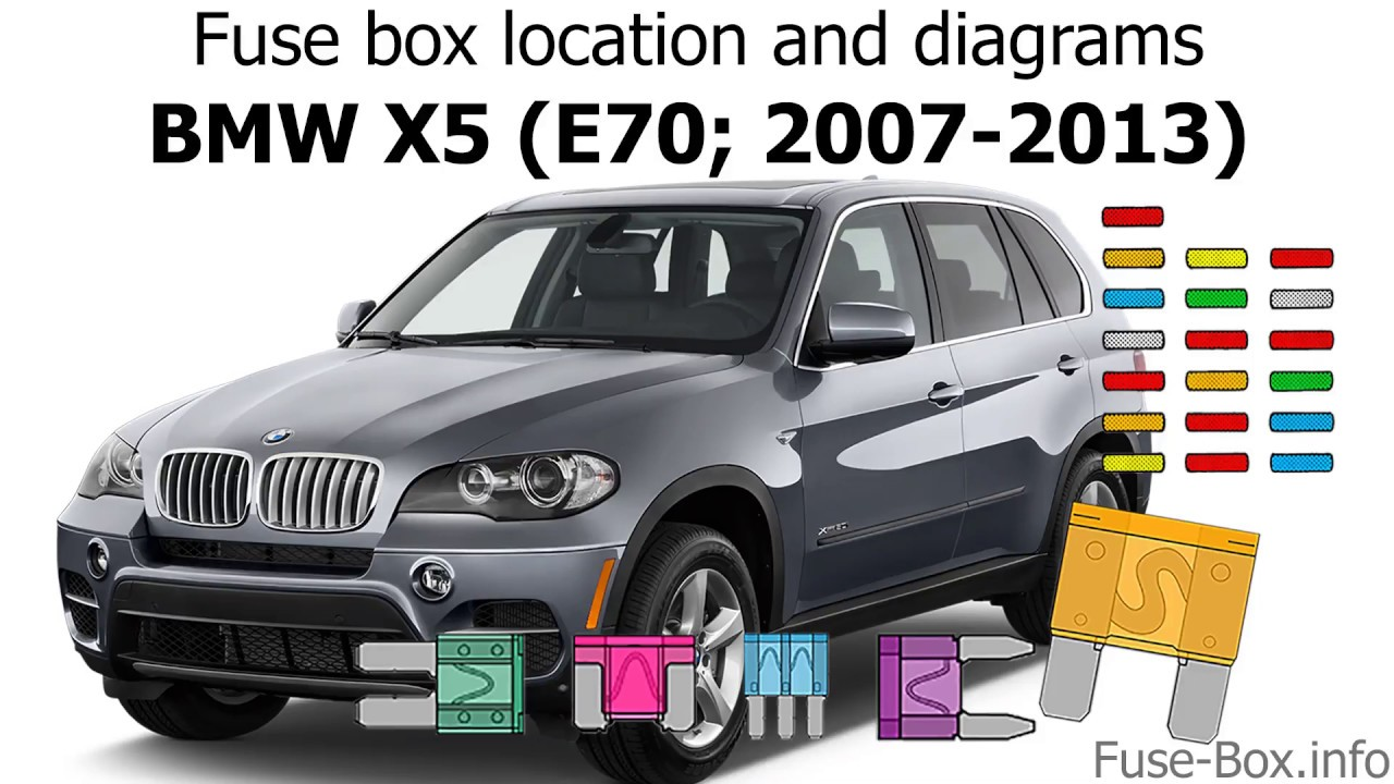 Fuse    box location and    diagrams        BMW       X5     E70  20072013   YouTube