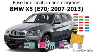 [SCHEMATICS_48ZD]  Fuse box location and diagrams: BMW X5 (E70; 2007-2013) - YouTube | X5 Fuse Diagram For |  | YouTube