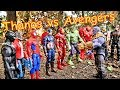 Thanos vs Avengers + Spiderman - Hulk, Thor, Black Panther, Iron Man Full Fight!