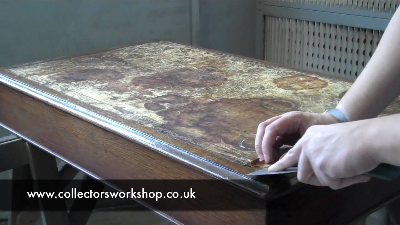 How To Replace A Leather Desk Top Part 1 Preparation