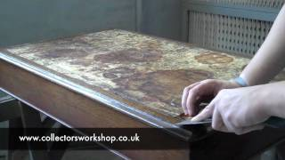 How To Replace A Leather Desk Top - Part 1 - Preparation.