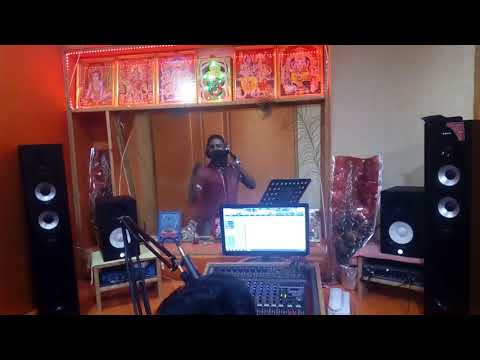Singer Manish Singh New Year Song Live Recording@Regal Music