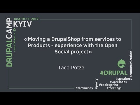 """Moving a DrupalShop from services to Products - experience with the Open Social project""."