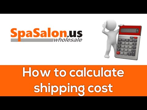 how to calculate shipping cost youtube. Black Bedroom Furniture Sets. Home Design Ideas