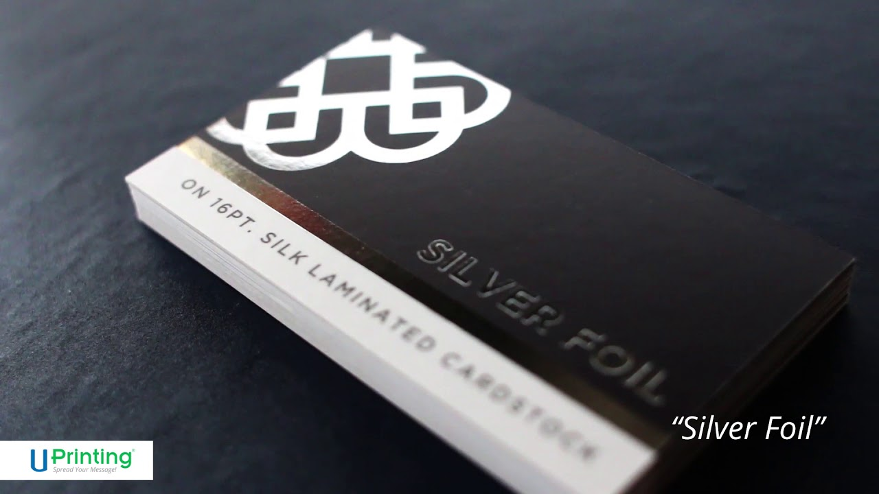 Premium Metallic Foil Stamped Business Cards in Copper, Silver, or ...