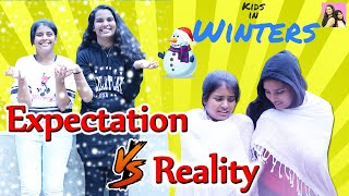 Expectation Vs Reality  In Wintersl Winter Routine l Ayu And Anu Twin Sisters