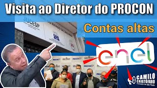 Visita ao Diretor do PROCON sobre a contas altas da ENEL - Camilo Cristófaro