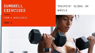 dumbbell exercises from a wheelchair, Part 3