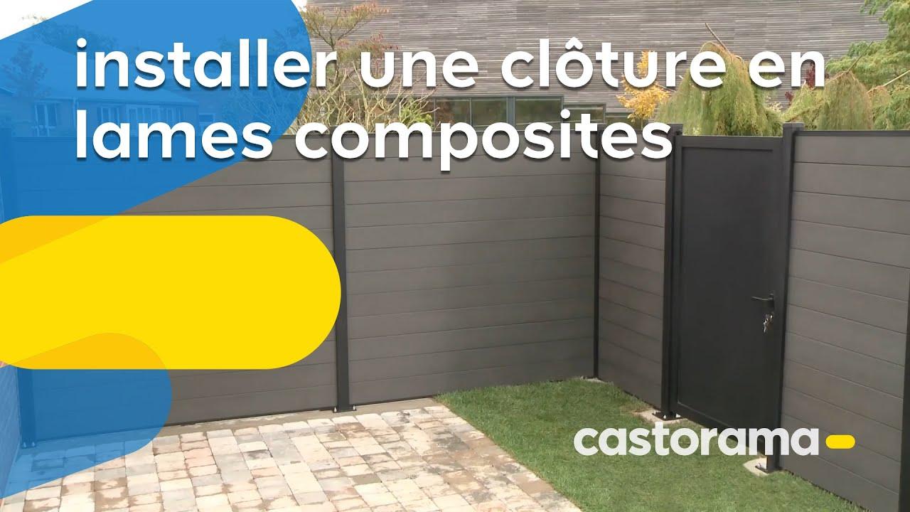 Installer Une Cloture En Lames Composites Castorama Youtube