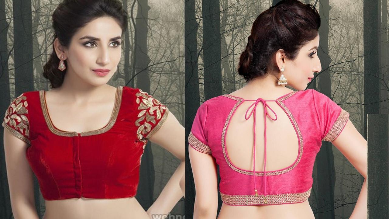 Latest saree blouse design neck - Latest Style Blouse Alter Neck Blouse Designs Look Great Sarees