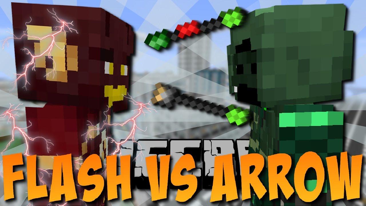 Flash Vs Arrow Minecraft Superhelden 1 Deutsch Youtube