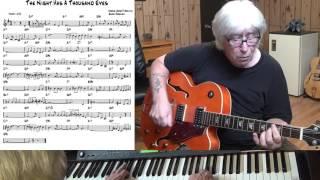 The Night Has A Thousand Eyes - Jazz guitar & piano cover ( Jerry Brainin & Buddy Bernier )