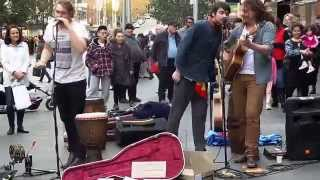 The Pierce Brothers with Ezekiel Ox - June 21st, 2014 - Bourke Street Mall